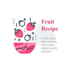 Delicious berry salad simple recipe healthy food vector