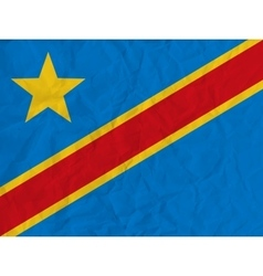 Democratic Republic of Congo paper flag vector image