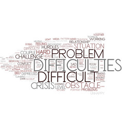Difficulties word cloud concept vector