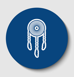 dream catcher sign white contour icon in vector image