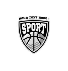 E sport logo basketball inspiration vector