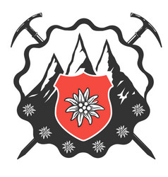 edelweiss flower icon alpine icon flat web vector image
