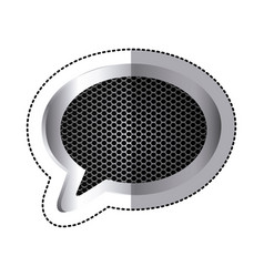 Emblem chat bubble icon vector