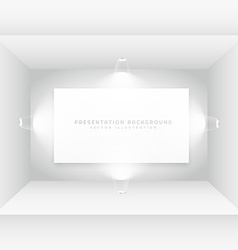 empty room with picture frame vector image vector image