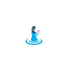 face woman beauty spa logo vector image