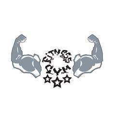 Fitness gym logo modern sport center icon vector
