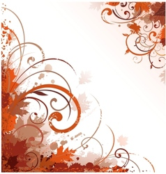 Floral autumn design vector