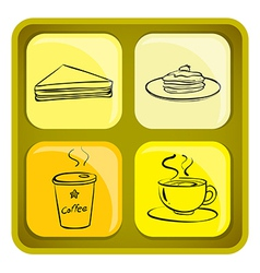 Four snack icons vector image vector image