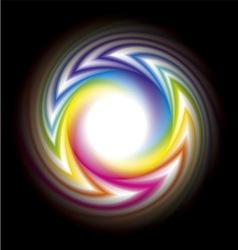 frame of spectrum vector image