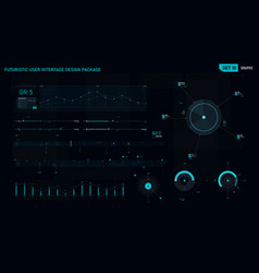 Futuristic user interface design element set 10 vector