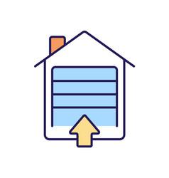 garage entrance rgb color icon vector image