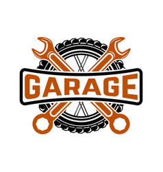 Garage service station car repair design element vector