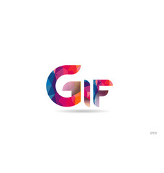 Gif colored rainbow word text suitable for logo vector