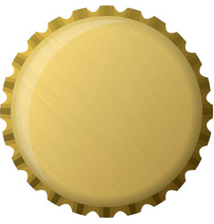 Gold bottle cap vector image
