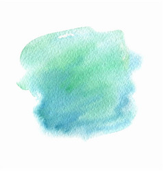 green and blue abstract watercolor paint vector image