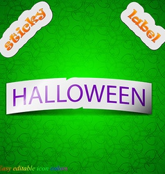 Halloween icon sign Symbol chic colored sticky vector