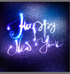 happy new year and merry christmas lettering on vector image