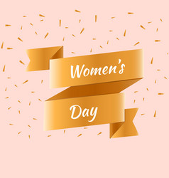 Happy women s day greeting card vector