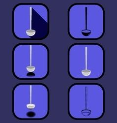 Ladle icons set vector