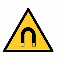 Magnetic field warning sign vector
