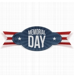 Memorial Day festive Badge with Ribbon vector image