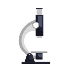 Microscope tool isolated flat icon vector image
