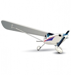 Modern plane vector