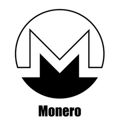Monero icon simple style vector
