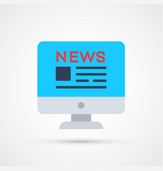 news trendy social symbol trendy colored vector image
