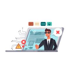Online computer security vector