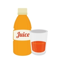 Orange bottle juice vector