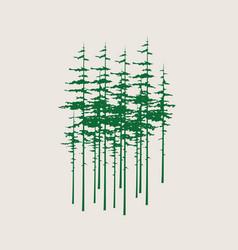 pine tree silhouette vector image