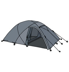 Present gray tent vector