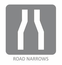 road narrows icon vector image