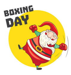 santa boxing day concept banner cartoon style vector image