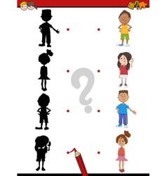 Shadow activity with children vector