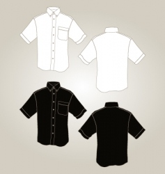 Short sleeve botton up shirt vector