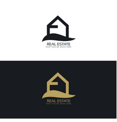 Simple real estate logo design concept vector