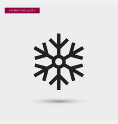 Snowflake icon simple winter sign vector