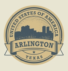 Stamp Arlington vector image