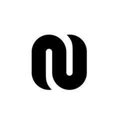 symbols of the black n letter vector image