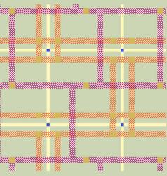 tartan plaid vintage fabric seamless vector image