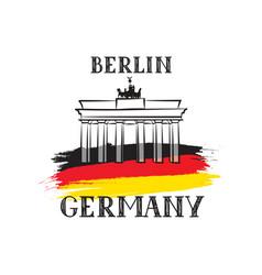 Tavel berlin germany sign german flag brandenburg vector