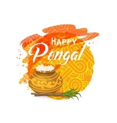 Thai Pongal greeting card vector