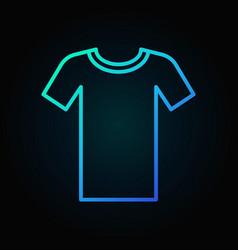 Tshirt blue outline icon t-shirt symbol vector