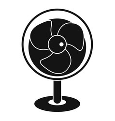 vintage electric fan icon simple style vector image