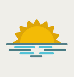 wavy sea sunset or sunrise vector image