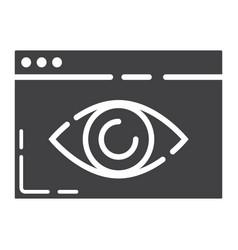 Web visibility glyph icon seo and development vector