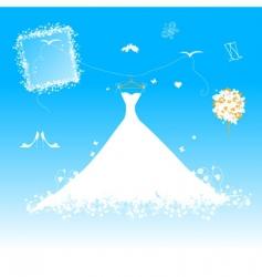 wedding dress for bride vector image vector image