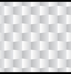 3d Square Seamless Pattern White vector image